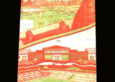 Port Vale v Middlesbrough 20.11.1954