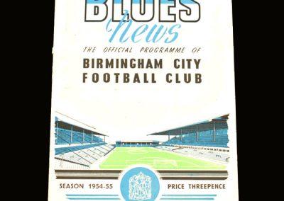 Port Vale v Birmingham 27.11.1954