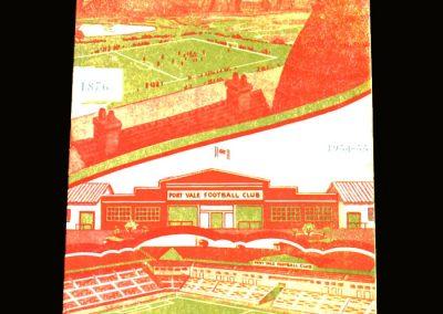 Port Vale v Bristol Rovers 18.12.1954
