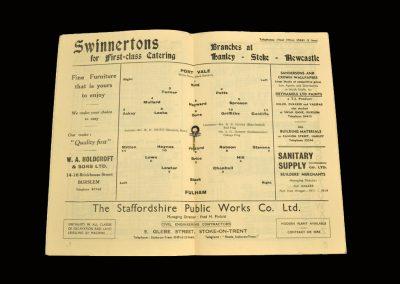 Port Vale v Fulham 27.12.1954