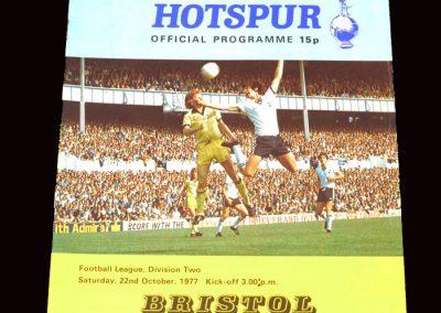 Spurs v Bristol 22.10.1977