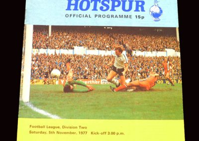 Spurs v Burnley 05.11.1977