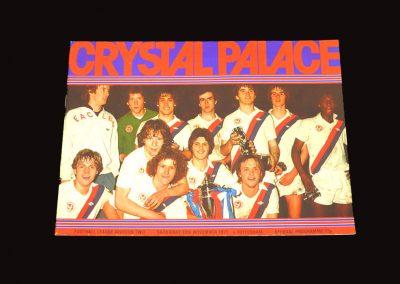 Spurs v Crystal Palace 12.11.1977