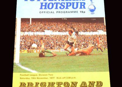 Spurs v Brighton 19.11.1977