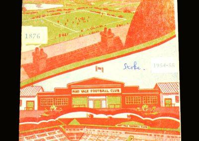 Port Vale v Stoke 15.01.1955 - postponed
