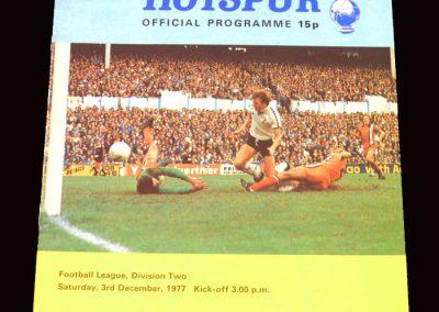 Spurs v Southampton 03.12.1977