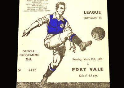 Port Vale v Ipswich 12.03.1955