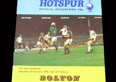 Spurs v Bolton 07.01.1978 - FA Cup 3rd Round