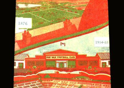 Port Vale v Bury 02.04.1955