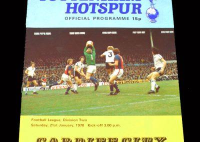 Spurs v Cardiff 21.01.1978