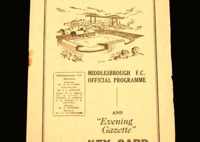 Port Vale v Middlesbrough 09.04.1955