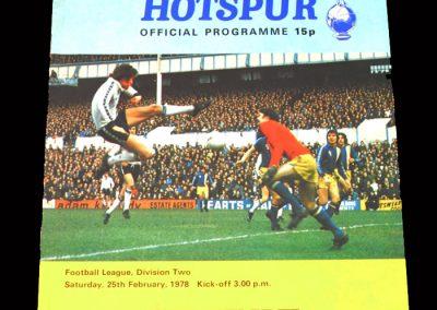 Spurs v Leyton Orient 25.02.1978