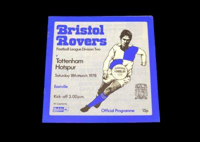 Spurs v Bristol Rovers 18.03.1978