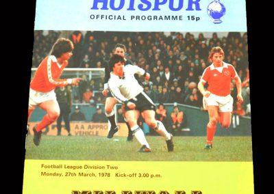 Spurs v Millwall 27.03.1978