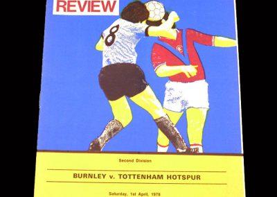 Spurs v Burnley 01.04.1978