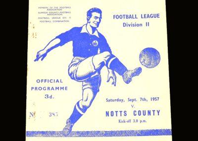 Notts County v Ipswich 07.09.1957