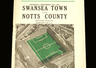 Notts County v Swansea 19.09.1957