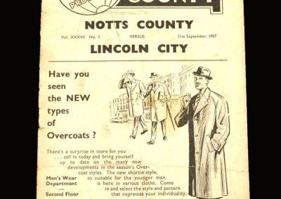 Notts County v Lincoln 21.09.1957