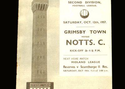 Notts County v Grimsby 12.10.1957