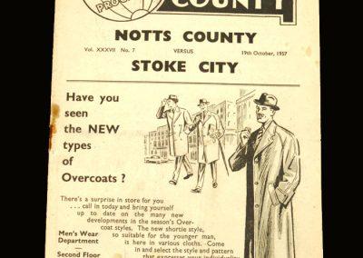 Notts County v Stoke 19.10.1957