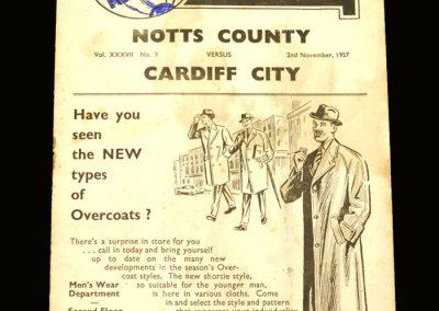 Notts County v Cardiff 02.11.1957