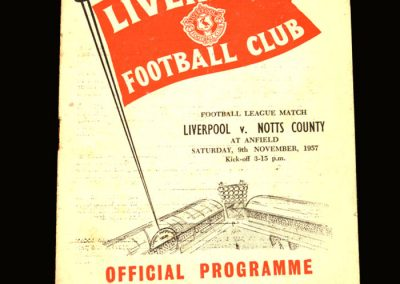 Notts County v Liverpool 09.11.1957