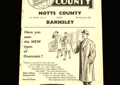 Notts County v Barnsley 25.12.1957
