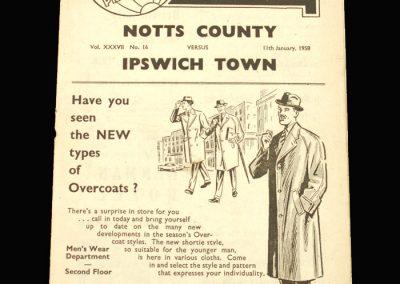 Notts County v Ipswich 11.01.1958