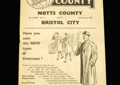 Notts County v Bristol City 25.01.1958 FA Cup 4th Round
