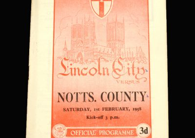 Notts County v Lincoln City 01.02.1958