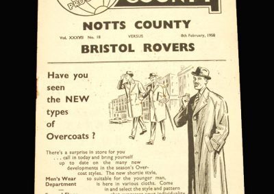 Notts County v Bristol Rovers 08.02.1958 (postponed)