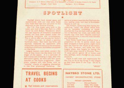 Notts County v Stoke 01.03.1958