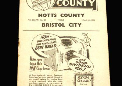 Notts County v Bristol City 08.03.1958