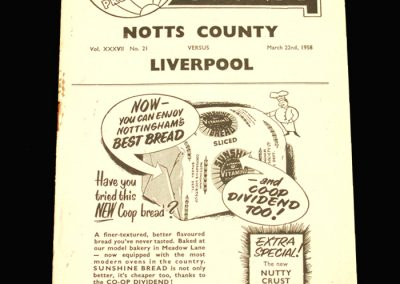 Notts County v Liverpool 22.03.1958