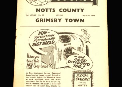 Notts County v Grimsby 05.04.1958