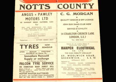 Notts County v Charlton 12.04.1958
