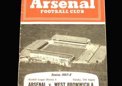 West Brom v Arsenal 27.08.1957