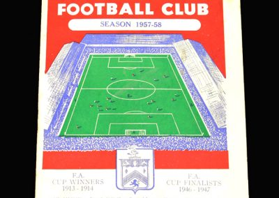 West Brom v Burnley 31.08.1957