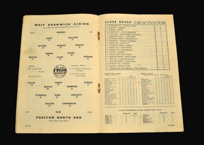 West Brom v Preston 07.09.1957