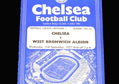 West Brom v Chelsea 11.09.1957