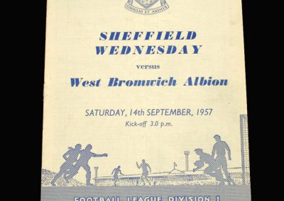 West Brom v Sheff Wed 14.09.1957