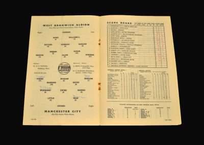 West Brom v Man City 21.09.1957