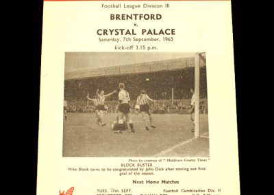 Crystal Palace v Brentford 07.09.1963