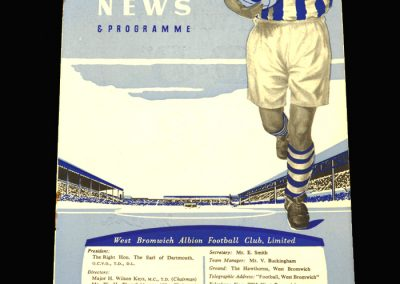 West Brom v CDSA Moscow 29.10.1957