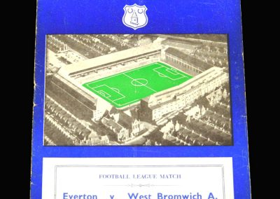 West Brom v Everton 02.11.1957