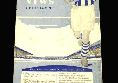 West Brom v Sunderland 23.11.1957