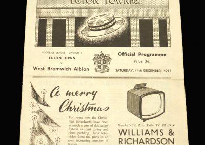 West Brom v Luton 14.12.1957