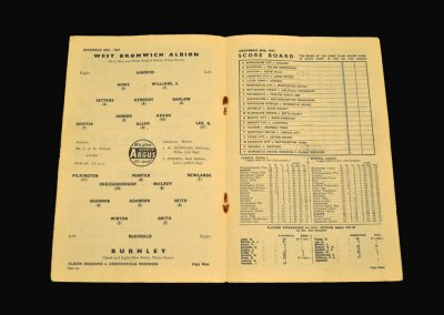 West Brom v Burnley 28.12.1957