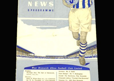 West Brom v Man City 04.01.1958 FA Cup 3rd Round