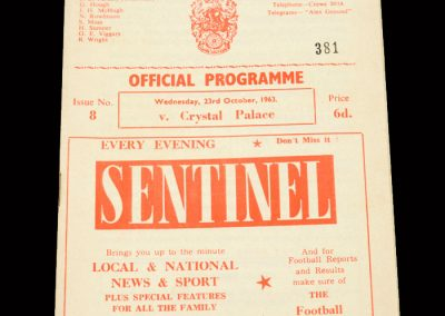 Crystal Palace v Crewe 23.10.1963